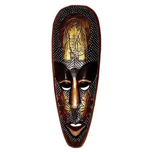 Maske25 50cm Gold-Maske Elefant