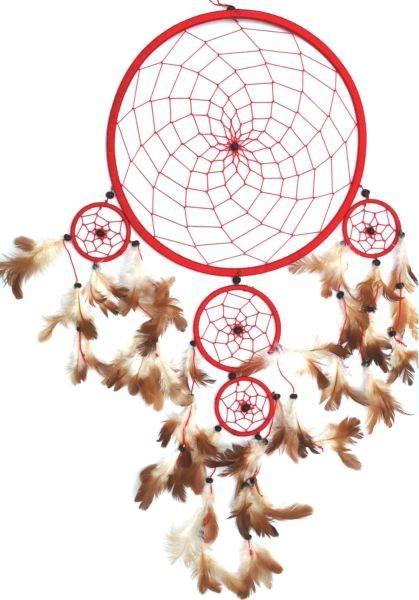 Indianer Traumfänger Dreamcatcher ⌀ 27 cm rot
