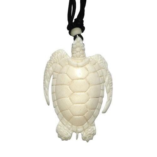 Bonekette Amulett Anhänger Carving Kette Turtel Schildkröte
