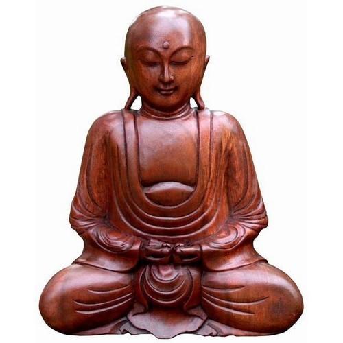 Buddha Meditation Feng Shui Glatze Mönch Hände unten 30 cm
