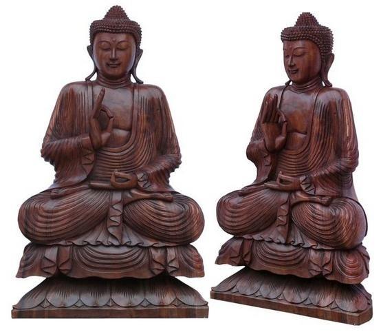 Buddha Meditation auf Lotus 100 cm