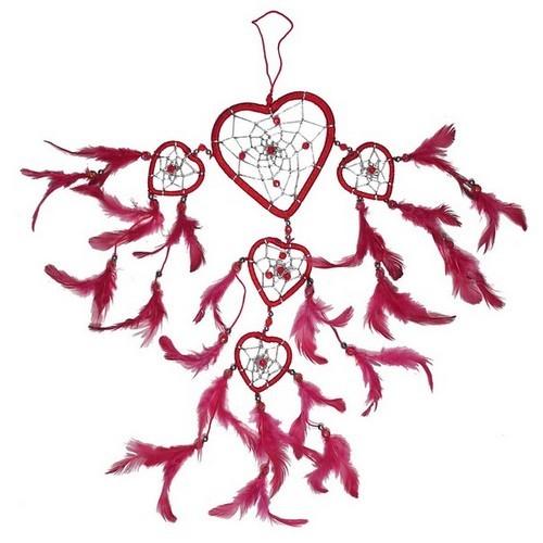 TF46 Traumfänger rot Herzform
