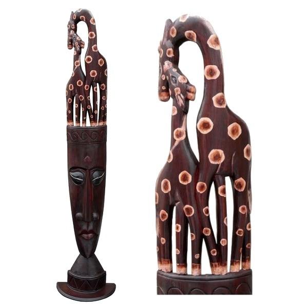 Rel13 Giraffenrelief stehend