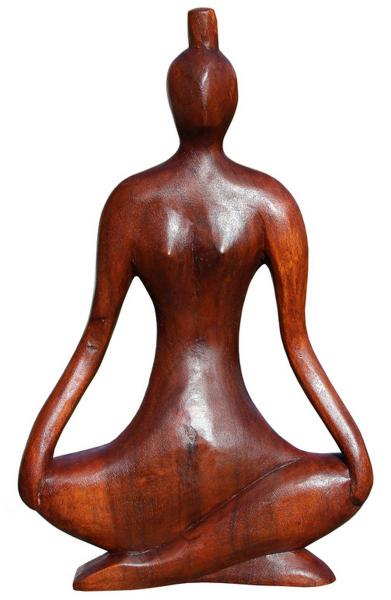 Abstrakte Figur 30cm YOGA Kunst Holz