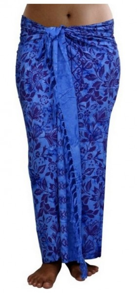 "Sarong ""blau"" blickdicht"