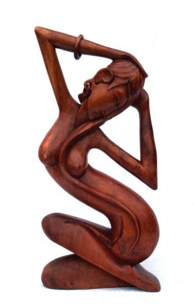 Abstrakt Frau Liebe Herz Kuß Glück Holz Figur