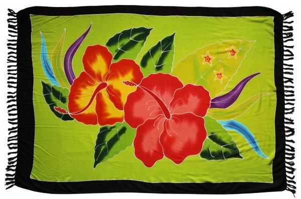 "Sarong ""grün Hibiskus Blüte"" blickdicht"