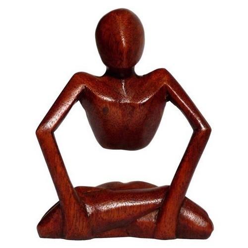 Denker Statue abstrakt Holz Mann Deko abstrakt Figur