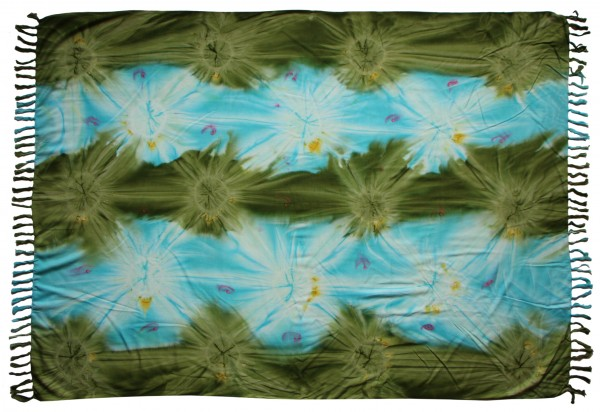 """Sarong """"blau grün Batik"""""""