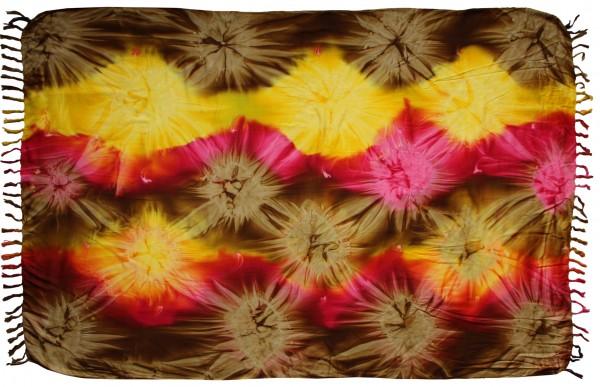 "Sarong ""braun gelb pink"""