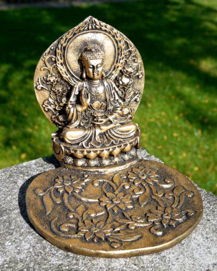 Resinfigur Buddha Räucherstäbchenhalter