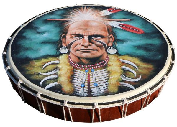 Schamanentrommel Motiv Indianer Ø 50 cm
