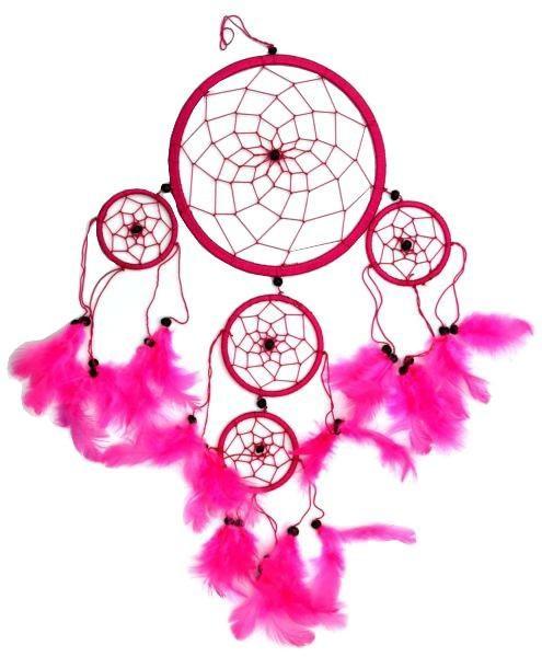 Indianer Traumfänger Dreamcatcher ⌀ 16 cm pink
