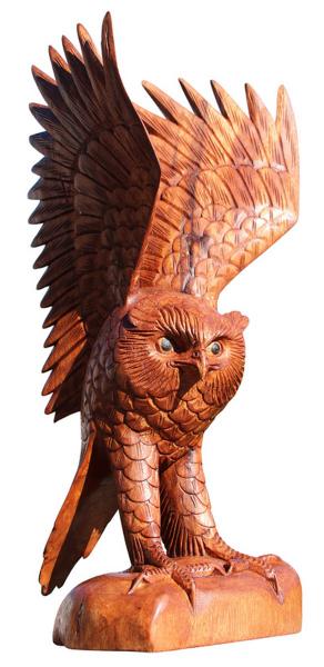 Eule29 40cm Eule mit erhobenen Flügeln