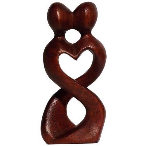 Liebe Herz Kuß Paar Glück abstrakt Holz abstrakte Figur