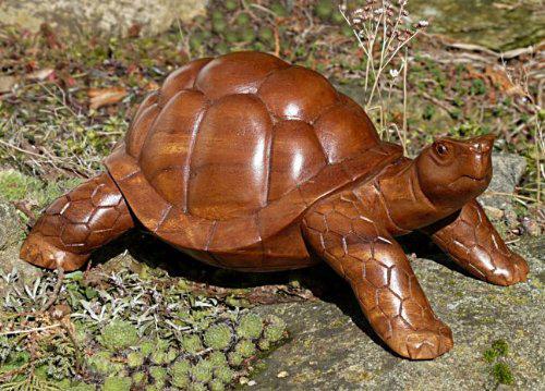 Turtle12.20 22cm Holz Schildkröte