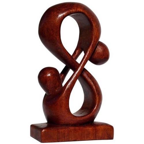 Liebe Herz Kuß Paar Glück abstrakt Holz Figur