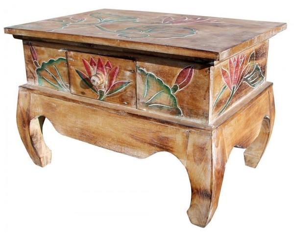 Tisch18 hell Lotus bunt