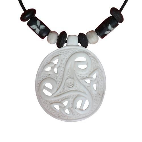 Bonekette Knochen Amulett Carving Anhänger Kette Tribal keltisch