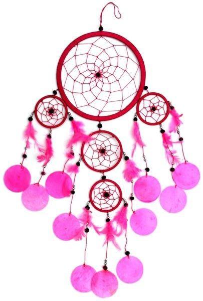 Indianer Traumfänger Dreamcatcher ⌀ 16 cm pink mit Capisscheiben