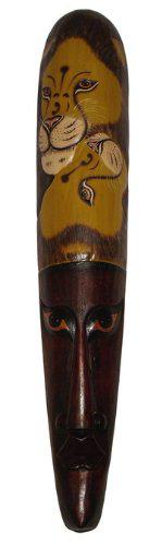Maske17 Bemalte 75cm Löwenmaske
