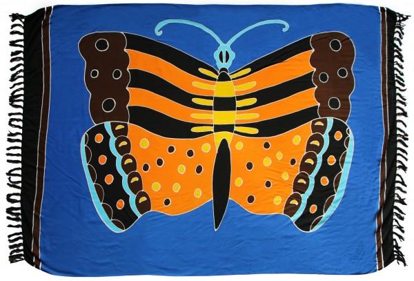 "Sarong ""blau Schmetterling"" blickdicht"