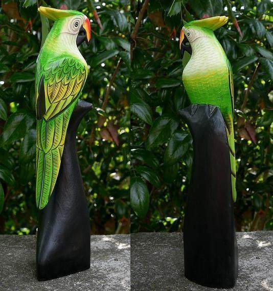 Papagei06 Papagei grün/weiss
