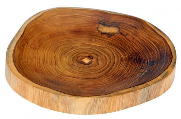 23cm Brot-Teller Schale Teak-Holz