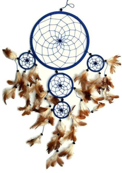 Indianer Traumfänger Dreamcatcher ⌀ 21 cm blau