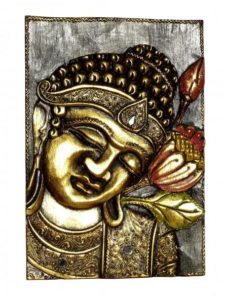 HBild01r Bild Buddha mit Blume rechts