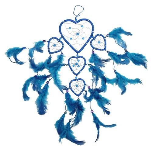 TF73 Traumfänger Herz blau-silber