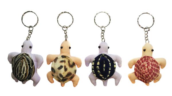 5er-Set Stoff-Schlüsselanhänger Schildkröte