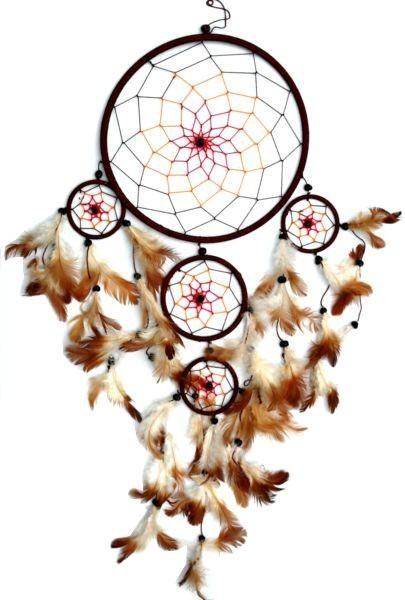 Indianer Traumfänger Dreamcatcher ⌀ 22 cm braun / bunt