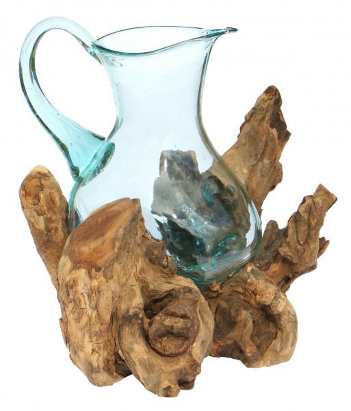 1,5L Glas-Krug auf Wurzelholz