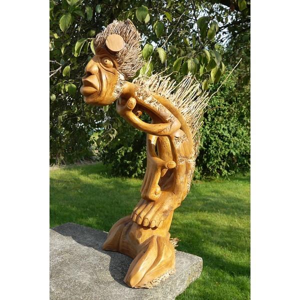 Mann aus Bambus Holz Schnitzerei