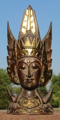 Maske54 Sita Stand-Maske gold