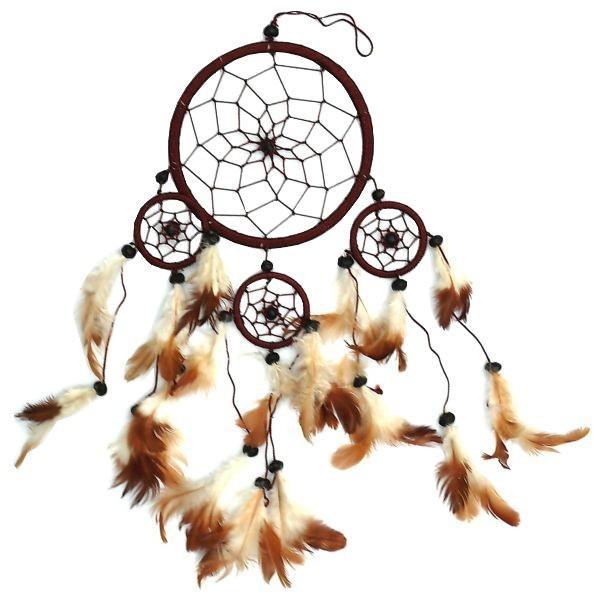 Indianer Traumfänger Dreamcatcher ⌀ 11 cm braun
