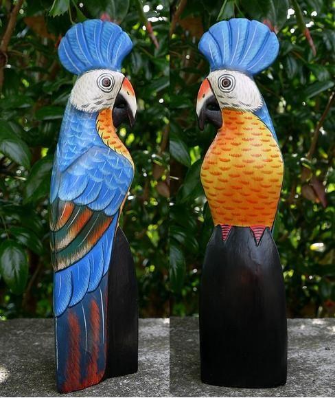 Papagei08 Papagei blau mit Häubchen