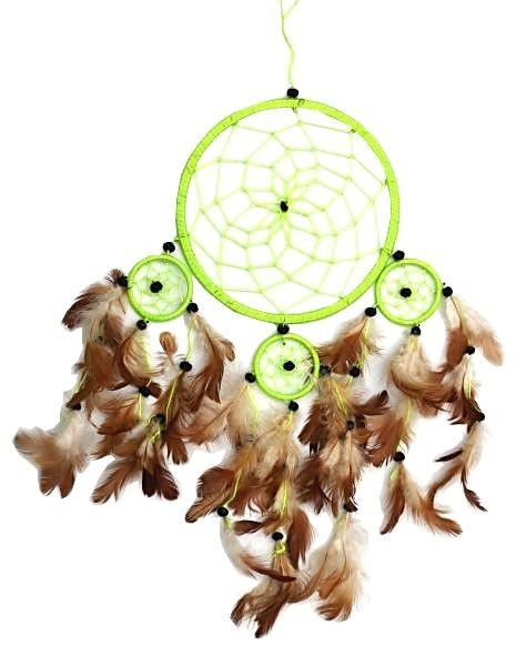 Indianer Traumfänger Dreamcatcher ⌀ 16 cm hellgrün