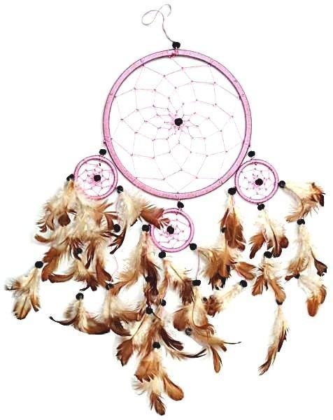 Indianer Traumfänger Dreamcatcher ⌀ 16 cm rosa