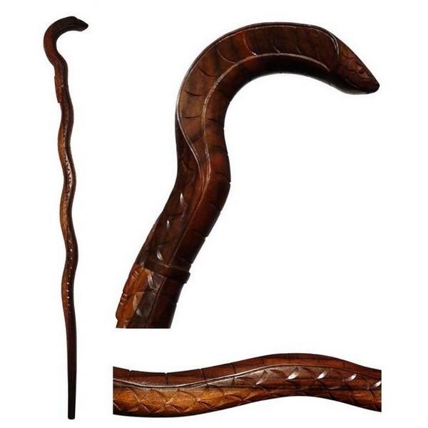 Spazierstock Gehstock Wanderstock Bali Schlange Kobra